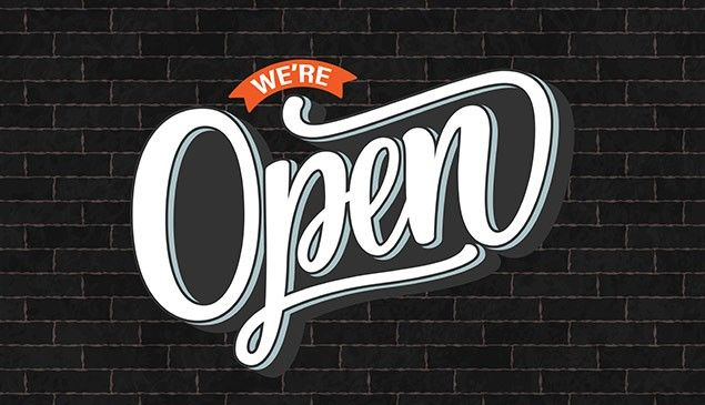 Yes we are OPEN for business !